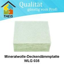 Mineralwolle-Deckendämmplatte WLG 035 / 50 mm
