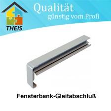 Fensterbank-Gleitabschluß aus Aluminium 110 mm bis 400 mm