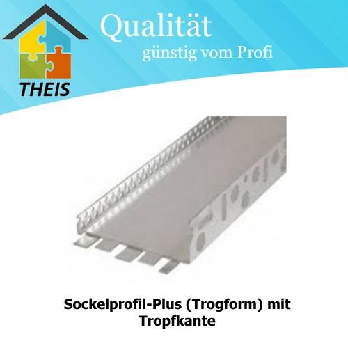 Sockelprofil-Plus (Trogform) mit Tropfkante