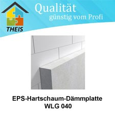EPS-Hartschaum-Dämmplatte WLG 040