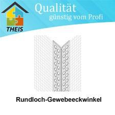 Gewebeeckwinkel-PVC 10x15 500 lfdm mit Rundloch