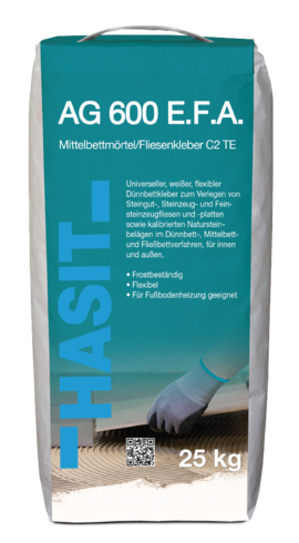 HASIT AG 600 E.F.A. Fliesenkleber C2 TE weiß 1.200 kg