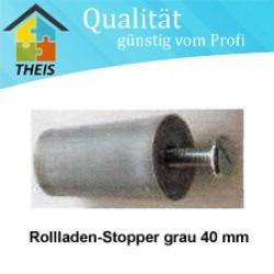 Rollladen-Stopper grau Länge 40 mm