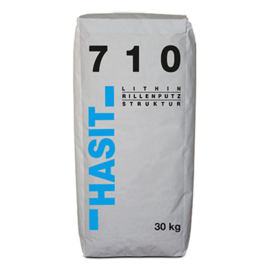 Hasit 710 OPTI LITHIN Rillenstrukturputz naturweiß K 0-1,0 mm