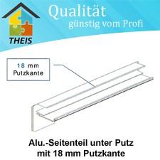 Alu-Seitenteile unter Putz mit 18 mm Putzkante - 50 mm bis 400 mm
