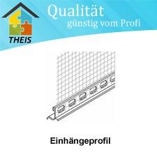 Einhängeprofil für Alu-Sockelprofile 3 mm Abzugskante