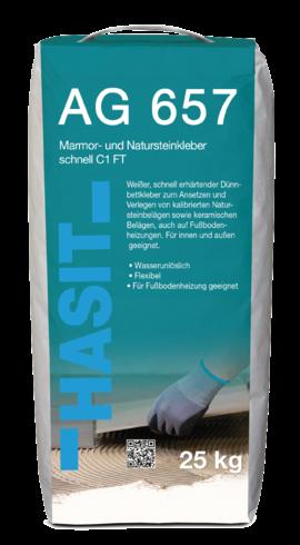 HASIT AG 657 Marmor- und Natursteinkleber schnell C1 FT weiß 1.050 kg.