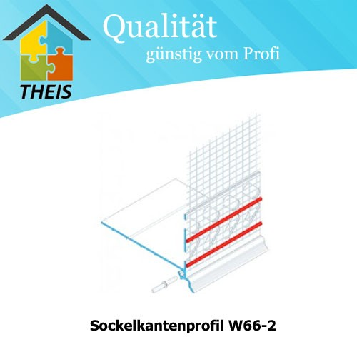 Sockelkantenprofil W66-2