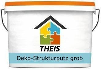 Deko-Strukturputz grob, weiß