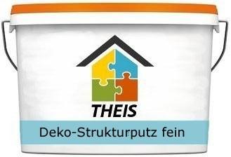 Deko-Strukturputz fein, weiß
